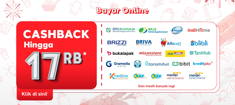 Festival Merdeka - Bayar Online Cashback Hingga 17ribu